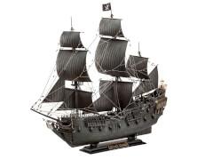 REVELL 65499 Modellbausatz easy-click Fluch der Karibik Black Pearl mit Basisfarben 1:150, ab 10 Jahre