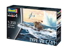 Revell 05154 Modellbausatz Deutsches U-Boot Typ VII C/41 1:350, ab 12 Jahre