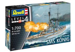 REVELL 05157 Modellbausatz SMS König 1:700, ab 12 Jahre