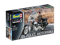 REVELL 07915 Modellbausatz US Police Motorbike 1:8, ab 14 Jahre