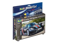 REVELL 67027 Modellbausatz Porsche 918 Weissach Sport mit Basisfarben 1:24, ab 10 Jahre