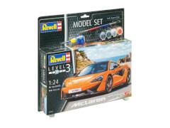 REVELL 67051 Modellbausatz  McLaren 570S mit Basisfarben 1:24, ab 12 Jahre