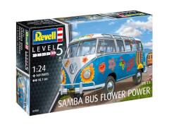 Revell 07050 Modellbausatz Samba T1 Flower Power 1:24, ab 14 Jahre