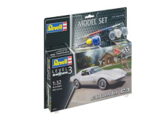 REVELL 67684 Modellbausatz Corvette mit Basisfarben C3 1:32, ab 10 Jahre