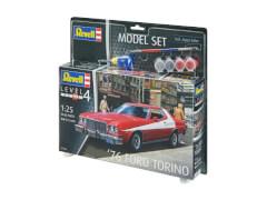 REVELL 67038 Modellbausatz '76 Ford Torino 1:25 mit Basisfarben, ab 12 Jahre