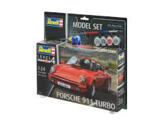 REVELL 67179 Modellbausatz Porsche 911 Turbo 1:24 mit Basisfarben, ab 12 Jahre