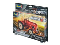 REVELL 67820 Modellbausatz Traktor Porsche Junior 108 easy-click 1:24 mit Basisfarben, ab 10 Jahre