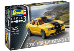 REVELL 07046 Modellbausatz 2010 Ford Mustang GT 1:25, ab 10 Jahre