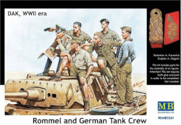 Rommel & German tank crew, DAK, WWII era