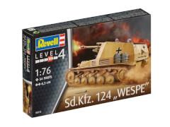 Revell 03215 Modellbausatz G61 Sd. Kfz. 124 Wespe 1:76, ab 12  Jahre