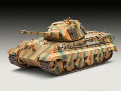 REVELL 03138 Modellbausatz Tiger II Ausf. B (Porsche Prototype Turret) 1:72, ab 10 Jahre