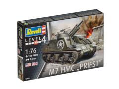Revell 03216  Modellbausatz, M7 HMC Priest 1:76, ab 12 Jahre