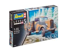 REVELL 03250 German Truck Type 2,5-32 Opel Blitz 1:35, ab 14 Jahre