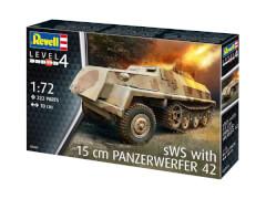 Revell 03264 Modellbausatz 15 cm Panzerwerfer 42 auf sWS 1:72, ab 12 Jahre