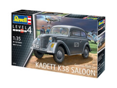 REVELL 03270 Modellbausatz German Staff Car Opel Kadett K38 Saloon 1:35, ab 12 Jahre