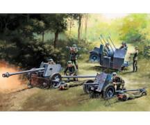 1:72 German Guns Set: PAK35-PAK40-FLAK38