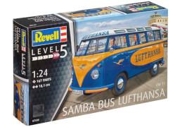 REVELL 07436 Modellbausatz VW T1 Samba Bus Lufthansa 1:24, ab 14 Jahre
