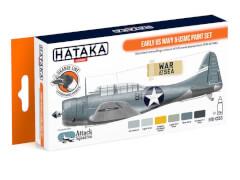 HATAKA Orange Line Set(6 pcs) Early US Navy & USMC paint set