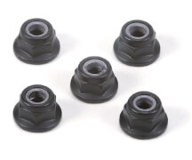 Alu Radmuttern (5) Schwarz eloxiert 4mm