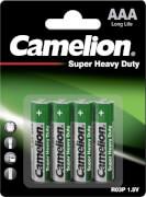 Camelion Super Heavy Duty Batterien Micro, 1,5V, 4er Blister