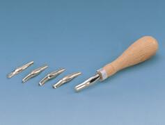 KREUL Linolschnitt-Garnitur mit 5 Schnitt-Werkzeugen