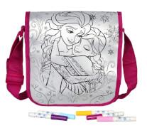 Disney Frozen - Die Eiskönigin Umhängetasche zum Bemalen, inkl. 5 Textil-Fasern