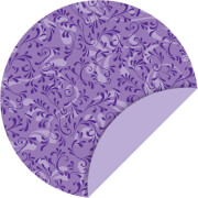Faltblätter rund 15cm Roma violett