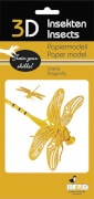 fridolin - 3D Papiermodell - Libelle, Spezialkarton, gelasert