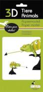 fridolin - 3D Papiermodell - Chamäleon, Spezialkarton, gelasert