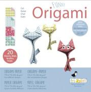 fridolin - Funny Origami Katzen, 20 Blätter 15cm x 15cm