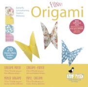 fridolin - Funny Origami Schmetterlinge, 20 Blätter, 15cm x 15cm
