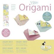 fridolin - Funny Origami Küken, 20 Blätter, 15cm x 15cm