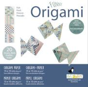 fridolin - Funny Origami Fische, 20 Blätter, 15cm x 15cm