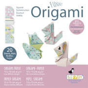 fridolin - Funny Origami Eichhörnchen, 20 Blätter, 15cm x 15cm