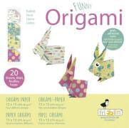 fridolin - Funny Origami Hasen, 20 Blätter, 15cm x 15cm
