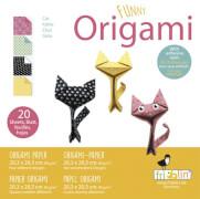 fridolin - Funny Origami Katzen, 20 Blätter, 20cm x 20cm