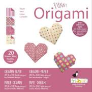 fridolin - Funny Origami Herzen, 20 Blätter, 20cm x 20cm