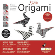 fridolin - Funny Origami Saurier, 20 Blätter, 20cm x 20cm