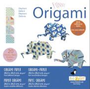 fridolin - Funny Origami Elefanten, 20 Blätter, 20cm x 20cm