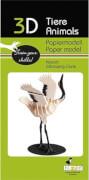 fridolin - 3D Papiermodell - Kranich, Spezialkarton, gelasert