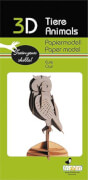 fridolin - 3D Papiermodell - Eule, Spezialkarton, gelasert