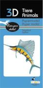 fridolin - 3D Papiermodell - Segelfisch, Spezialkarton, gelasert