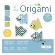 fridolin - Kids Origami Fisch, 20 Blätter, 15cm x 15cm