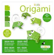 fridolin - Kids Origami Frosch, 20 Blätter, 15cm x 15cm