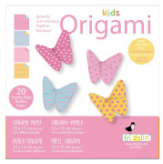fridolin - Kids Origami Schmetterling, 20 Blätter, 15cm x 15cm