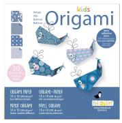 fridolin - Kids Origami Wal 1, 20 Blätter, 15cm x 15cm