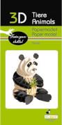 fridolin - 3D Papiermodell - Panda, Spezialkarton, gelasert
