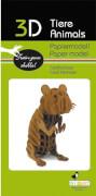 fridolin - 3D Papiermodell - Hamster, Spezialkarton, gelasert