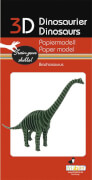 fridolin - 3D Papiermodell - Brachiosaurus, Spezialkarton, gelasert