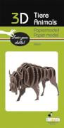 fridolin - 3D Papiermodell - Bison, Spezialkarton, gelasert